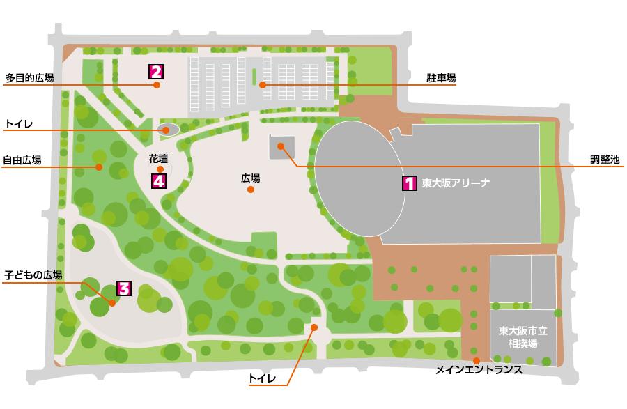 八戸の里公園ガイドマップ