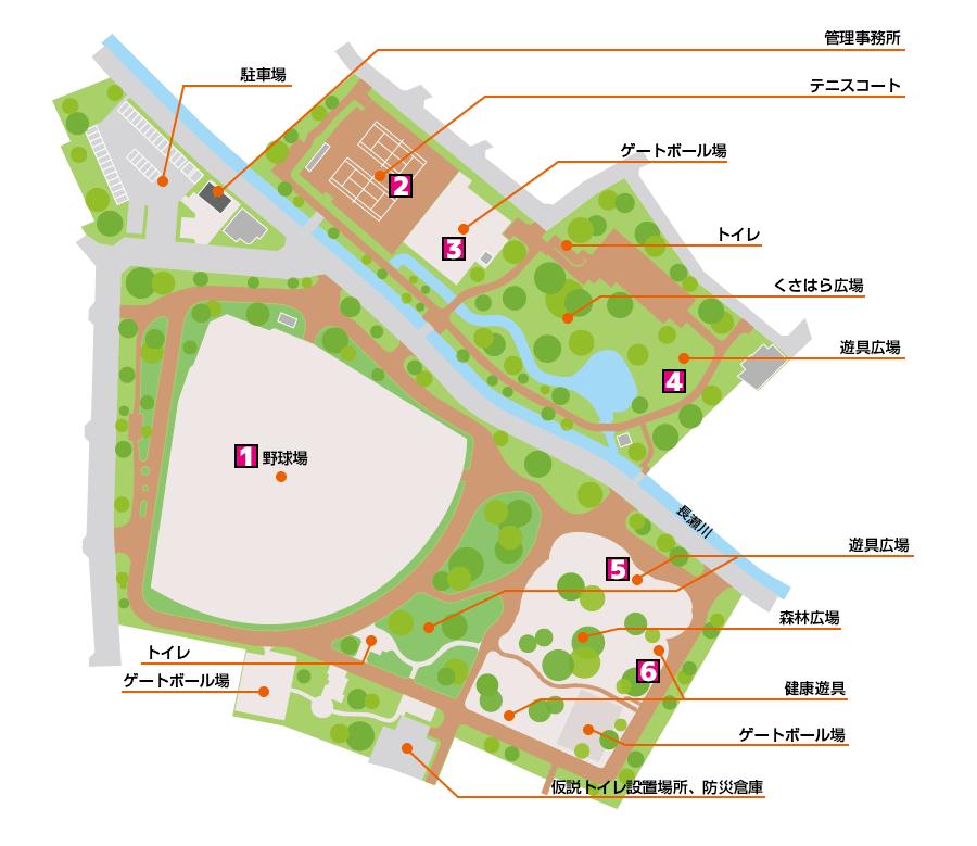 金岡公園ガイドマップ