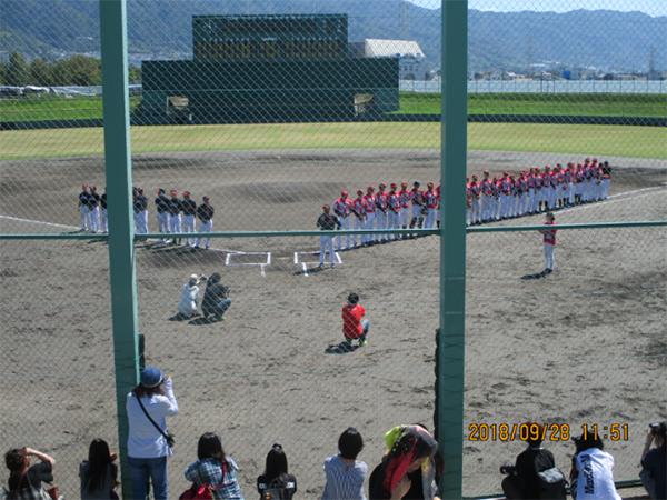 東大阪チャリティ野球対決!レポート 9月28日(金)