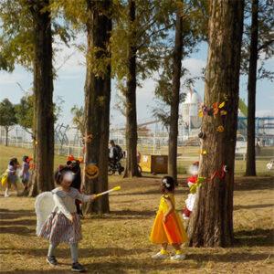 市民美術センター&ドリーム21&花園中央公園でハロウィンパレード